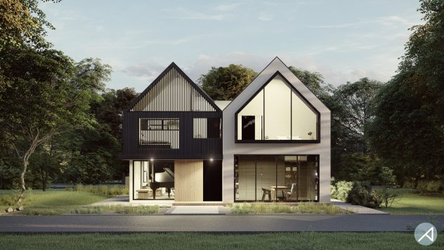 Scandinavian House Plan ANK Studio