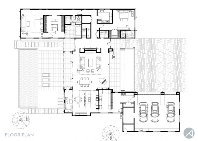 Modern House ANK Studio Floor Plan