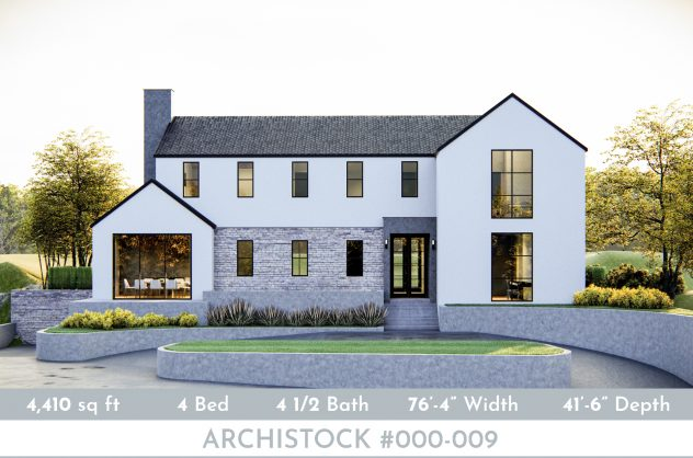 Modern Farmhouse Plan_ANK Studio