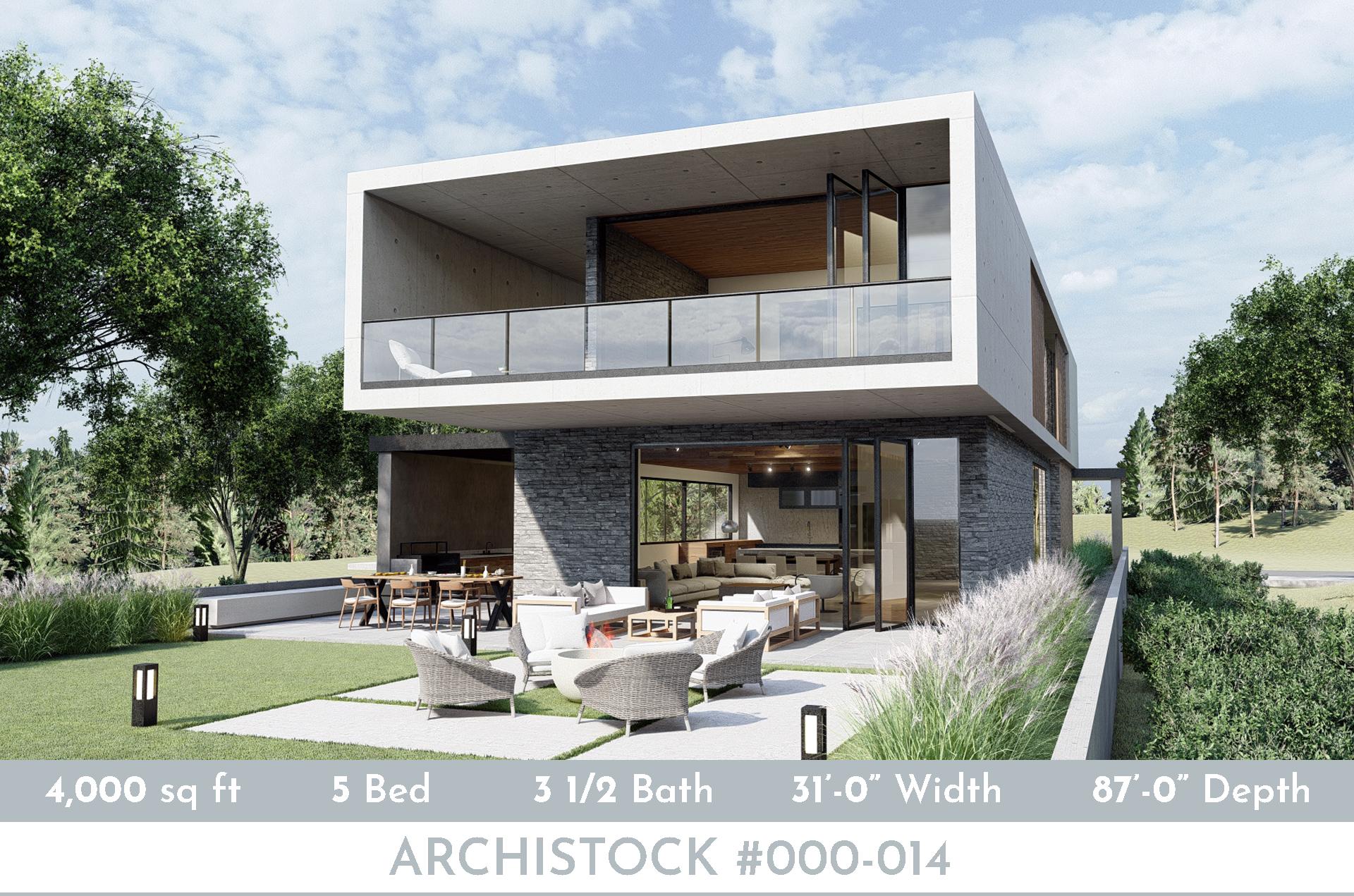 Modern Lake House Plan